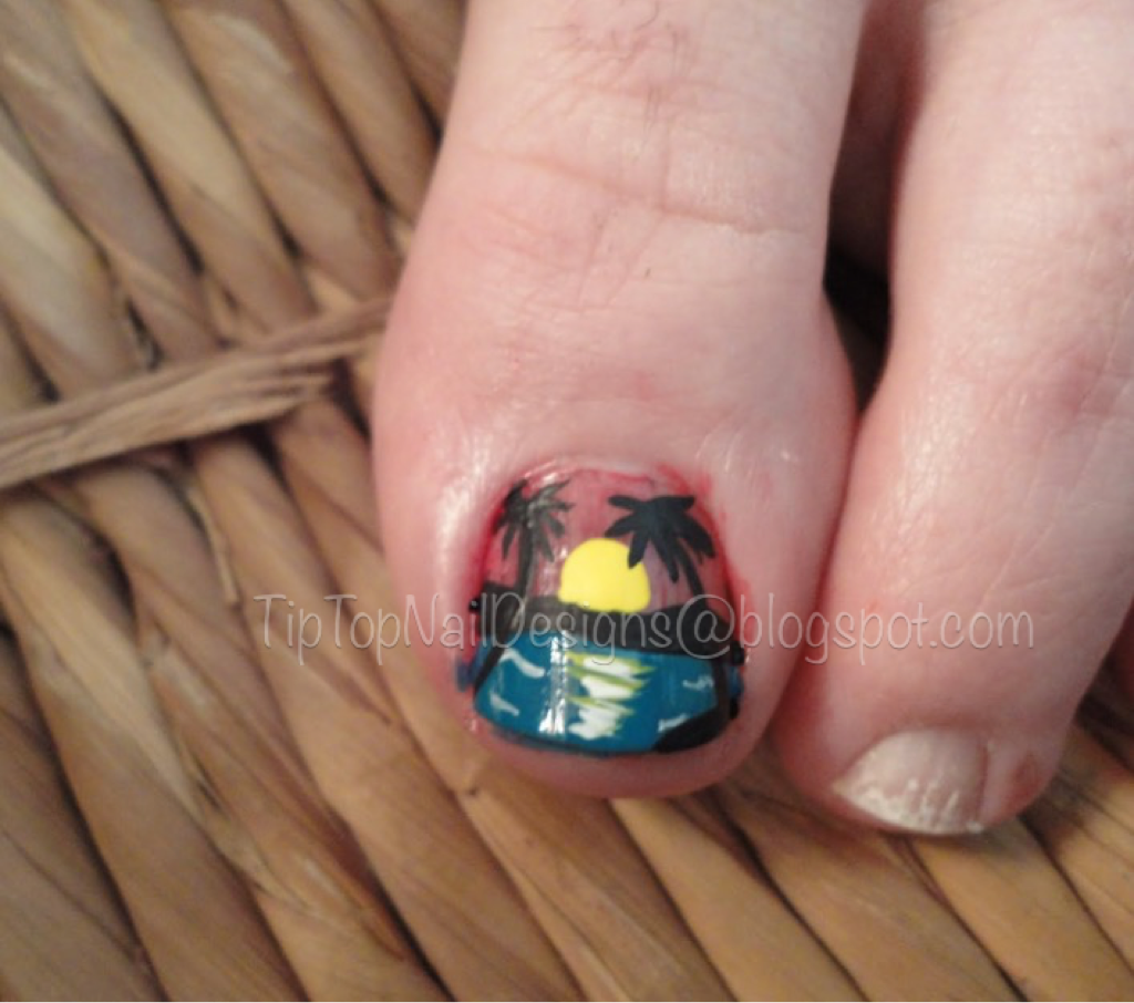 Tip Top Nail Designs: Tropical Sunset