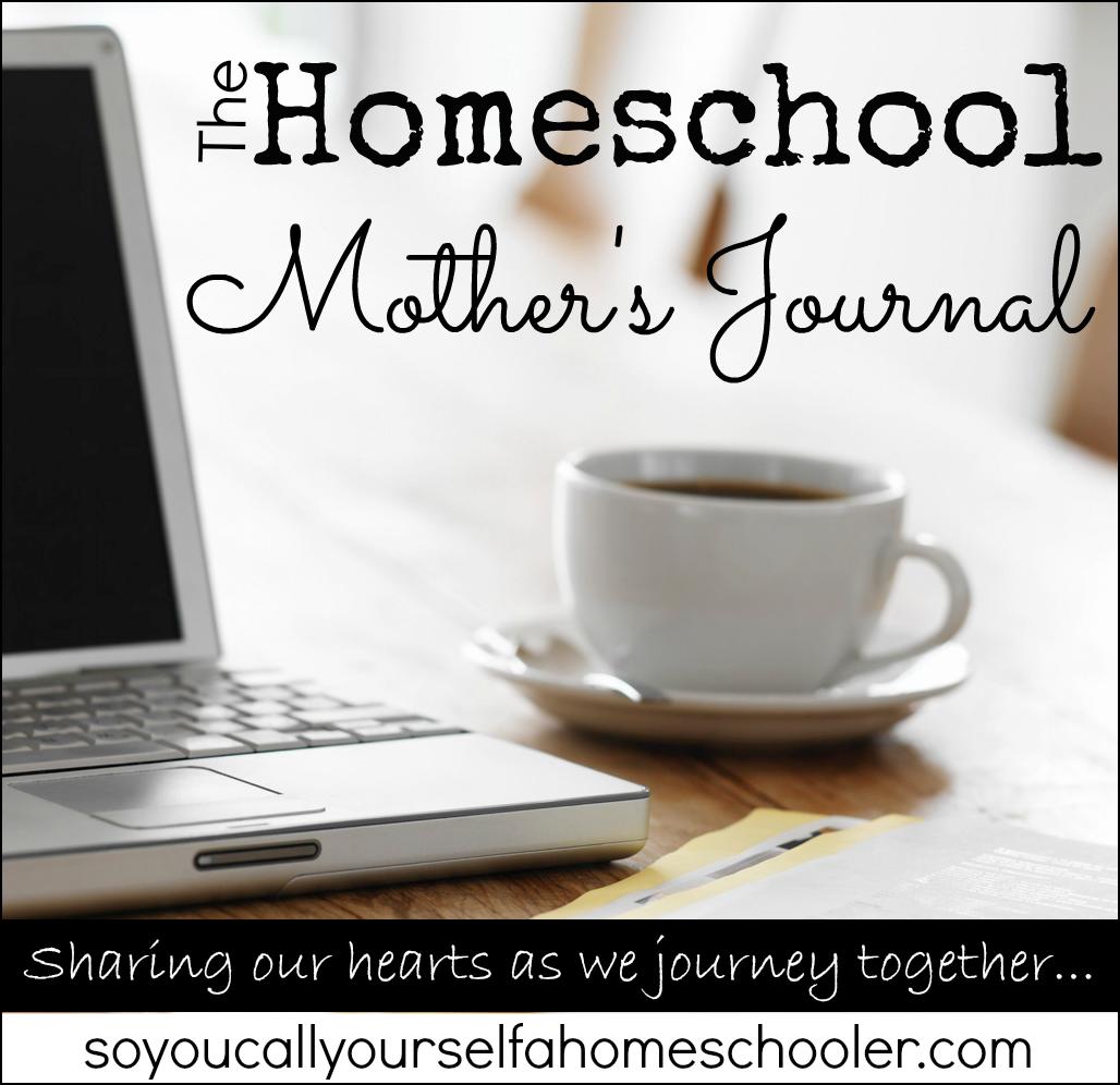 homeschool mother's journal post