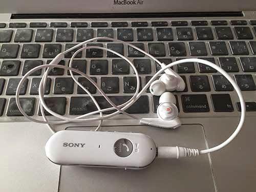 ソニーのワイヤレスステレオヘッドセット ホワイト MDR-EX31BN/W