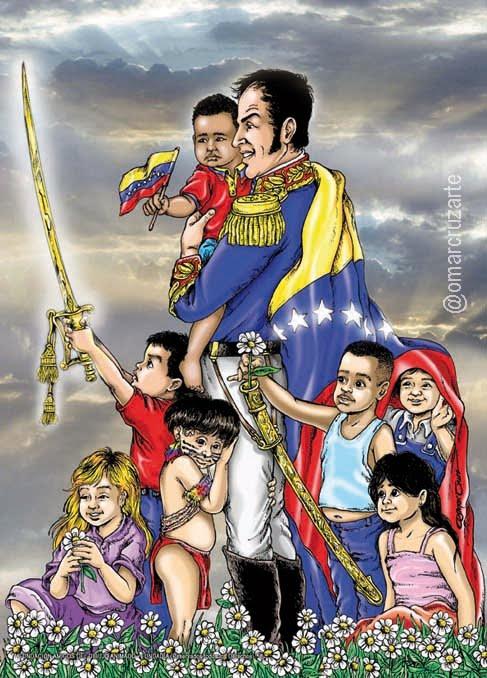 Bolívar y los niños