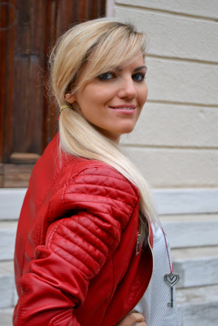 mariafelicia magno fashion blogger color block by felym fashion blog italiani fashion blogger italiane ragazze bionde fashion blogger bionde outfit rosso red outfit