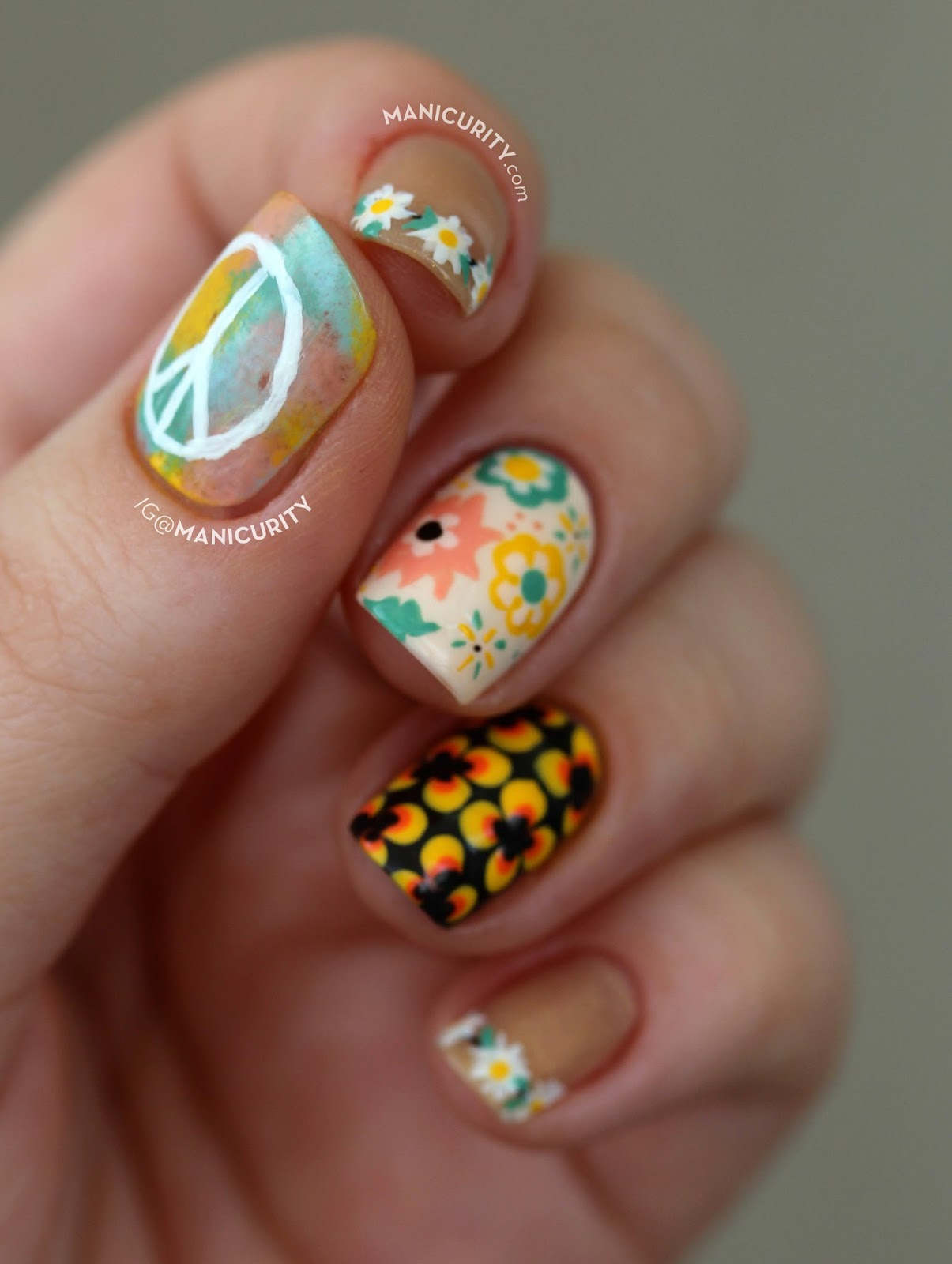 Manicurity: The Digit-al Dozen: Can You Dig This Freehand Seventies ...