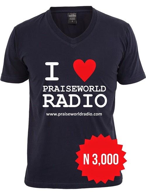 Échantillon Gratuit T-shirt de praise world radio