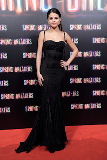 selena gomez at spring breaker premier in black dress
