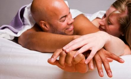 The Foreplay Cure,black man white woman having sex bed sleep make love