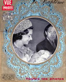 le baptême de Lord Linley, fils de la princesse Margaret