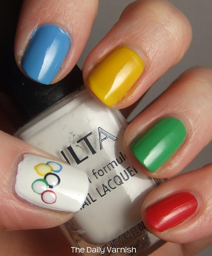 Fashion Online: Olympics Inspired Nail Art. Let the Games begin!