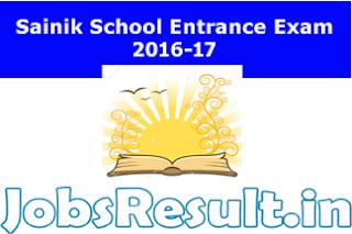 Sainik School Entrance Exam 2016-17