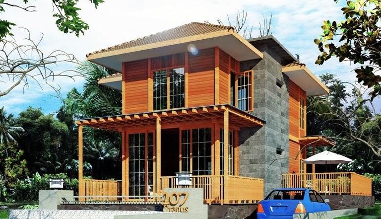 rumah minimalis kayu modern