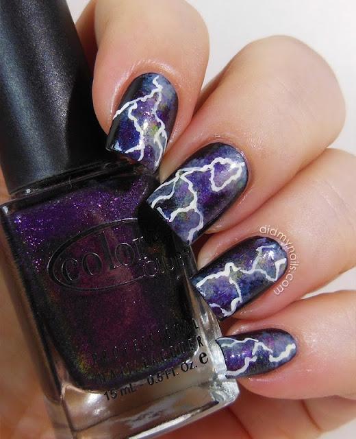 lightning nail art