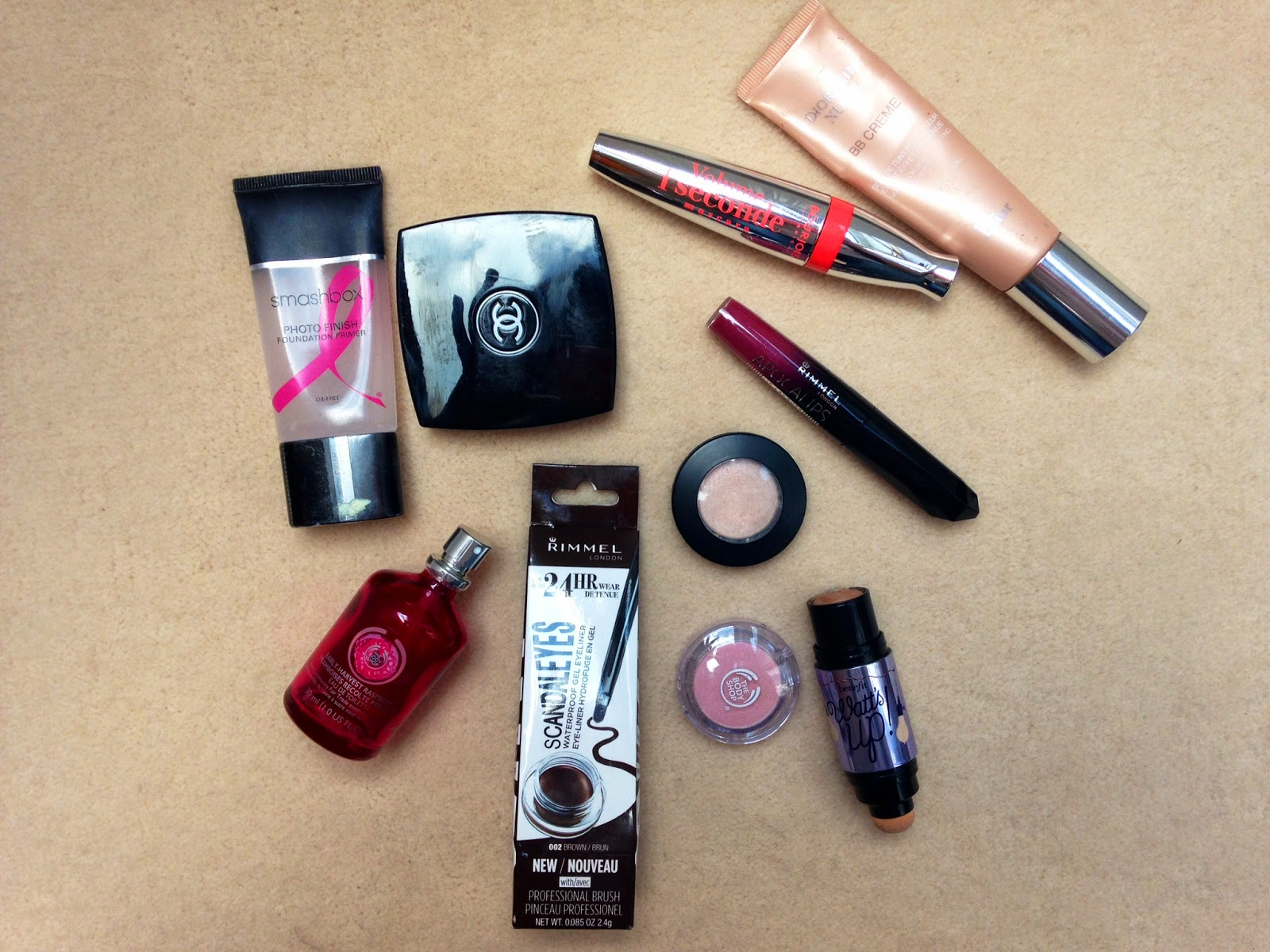 Smashbox, Primer, Chanel, Powder, Bourjois, Apocalips, Body Shop, Dior, BB Cream