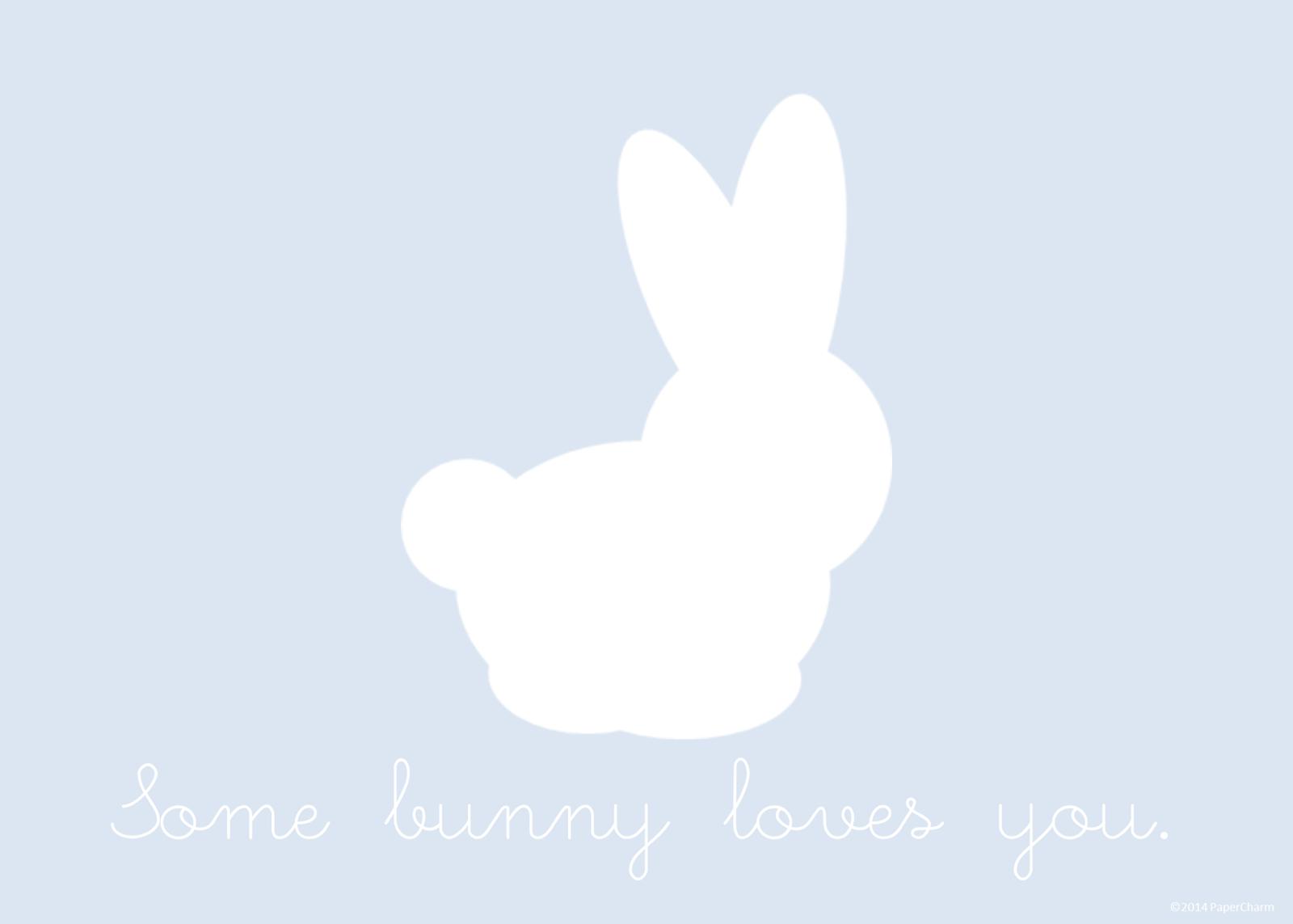 papercharm some bunny loves you free printable art. Black Bedroom Furniture Sets. Home Design Ideas