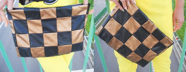 charme e chique modne żółte spodnie 2012 torebka DIY