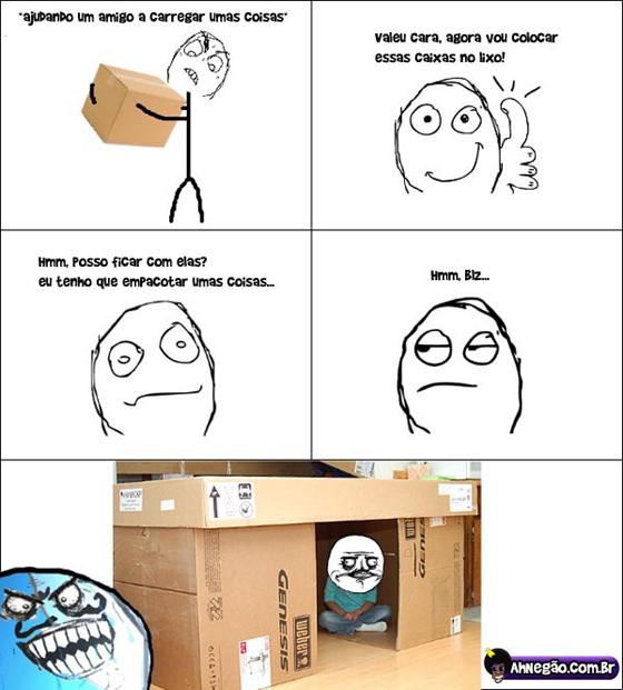 Tirinha - Brincando com caixas quando criânça...