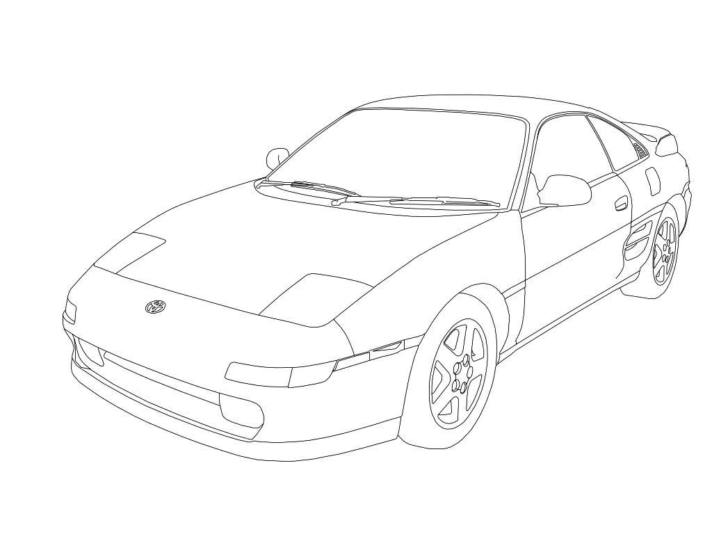how to draw a beautiful car