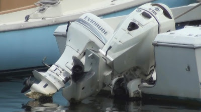 example of how water can get into fuel tanks on outboard motors