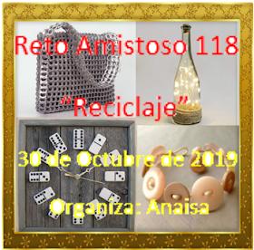 Anfitriona del mes de octubre - Anaisa (El taller de Anaisa) - reto amistoso#118 - reciclaje