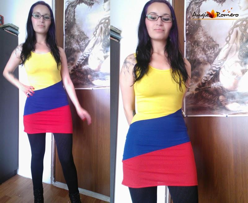 Vestido tricolor Seleccion Colombia