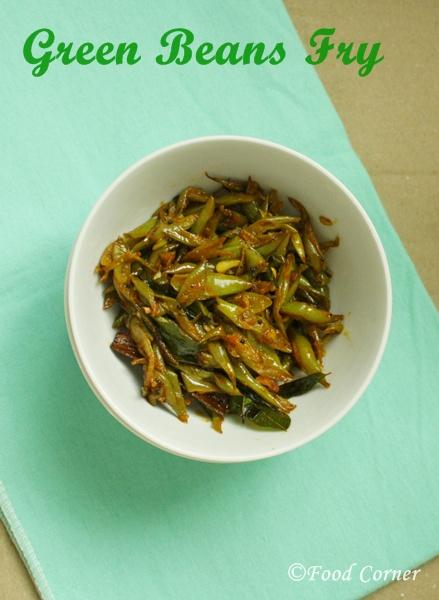Sri Lankan Food-Green Beans Fry-Bonchi thel dala