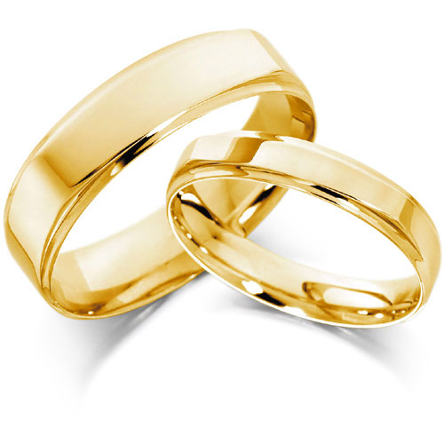 Golden engagement rings for men