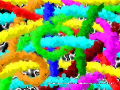 Gambar Abstrak - 6 - Lintasan Warna