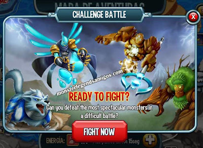 imagen del challenge battle de monster legends ios