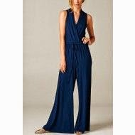Casual Afternoon Stroll Jumpsuit-Navy