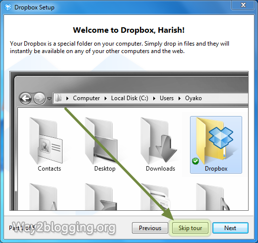 How to Host Your Blogger Script and Files on DropBox for Free - Step7