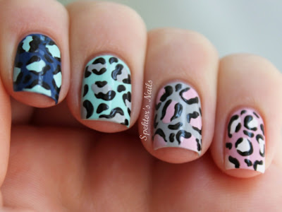 Leopard Skittle Nails Tutorial