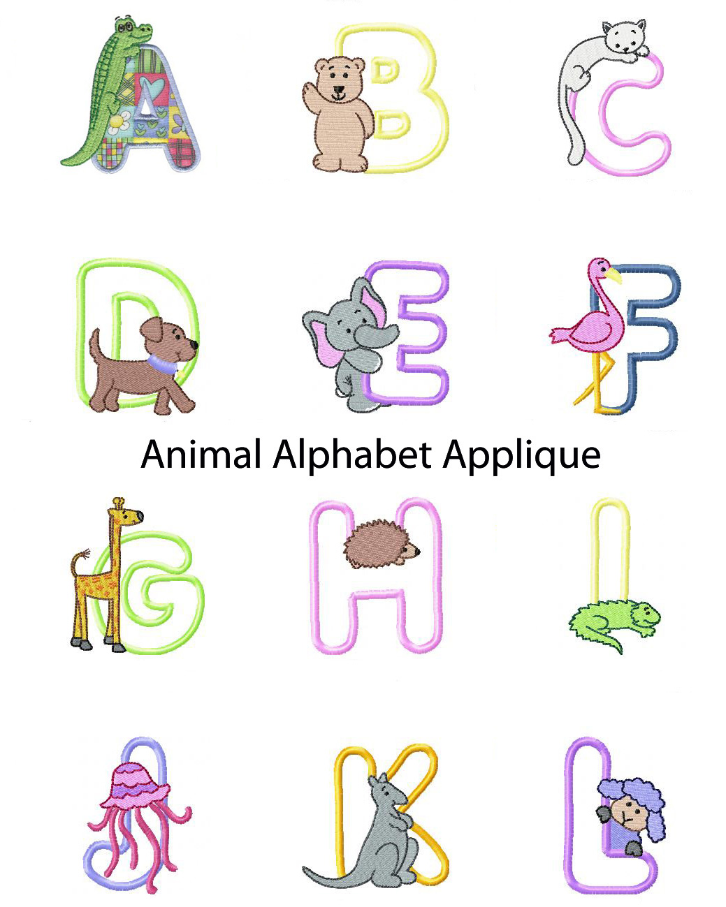 My Boutique Alphabet Embroidery Designs