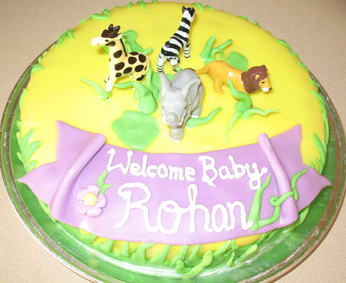 Baby Shower Animal Cake