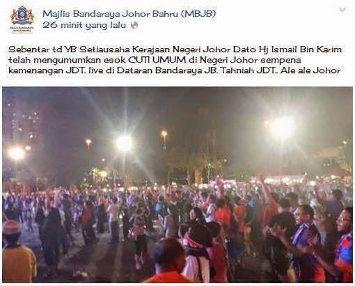 Johor Cuti Peristiwa 26 Jun 2014 Khamis
