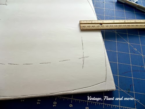 showing the drawing of the pattern on the foam core