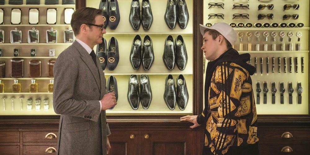 Colin Firth e Taron Egerton em KINGSMAN: SERVIÇO SECRETO (Kingsman: The Secret Service)