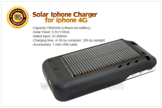 Solar iPhone Charger for iPhone 4G