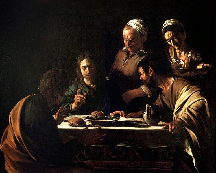 Le Caravage - le souper à Emmaus,1606