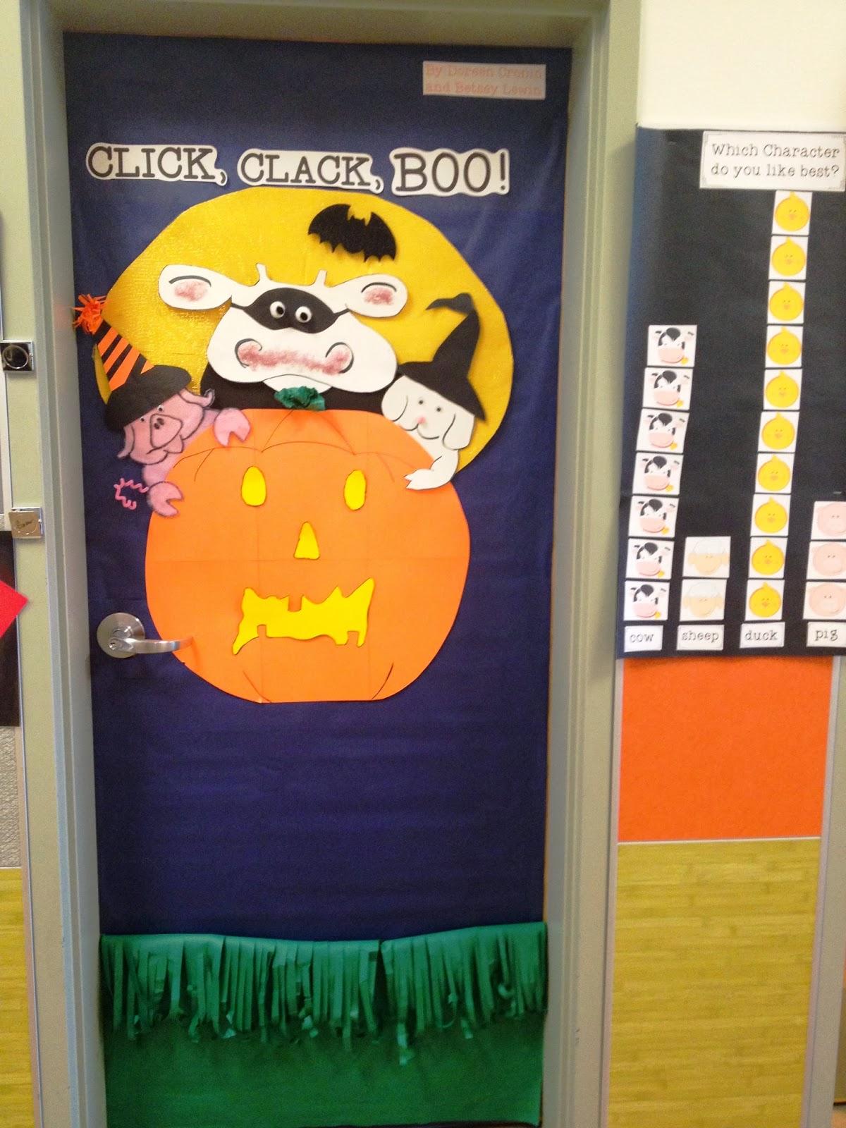Cartoon classroom door - Door Decorating Freebies And More