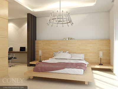 Wooden Master bedroom in Johor
