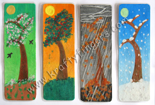 4-Seasons Bookmarks: Water Painting [SET-01]