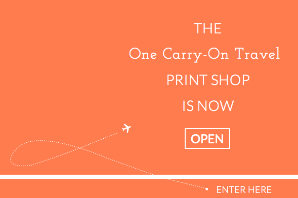 one carry-on travel print shop graphic