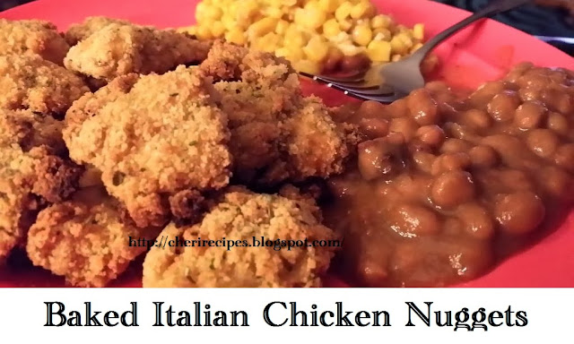 baked italian chicken nuggets