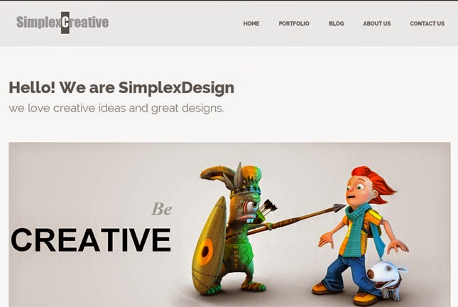 Simplex Creative Responsive Blogger Template