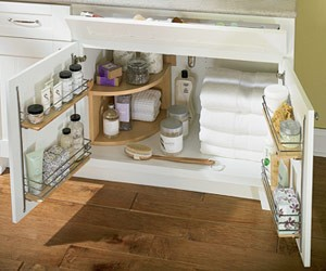 pitop bathroom cabinet organization