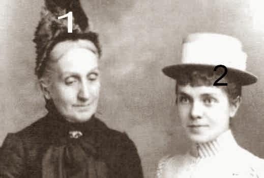 Luisa Fernanda, infante d'Espagne et duchesse de Montpensier et l'infante Eulalia d'Espagne