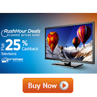 Paytm Rush Hour Deals : Lowest Best Price Ever on Micromax Television Extra 25% Cashback from Rs. 8843 : BuyToEarn