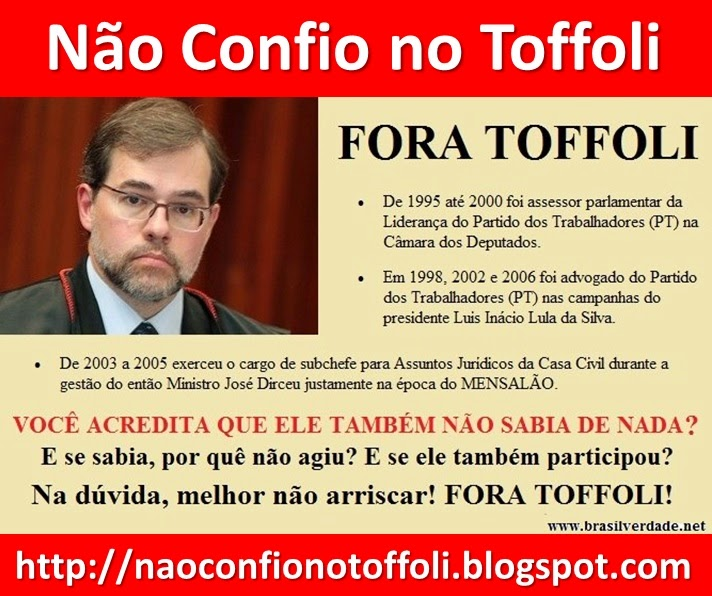 Não Confio no Toffoli