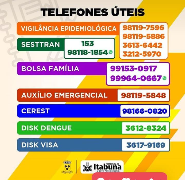 TELEFONES QUE VOCÊ DEVE PRECISAR