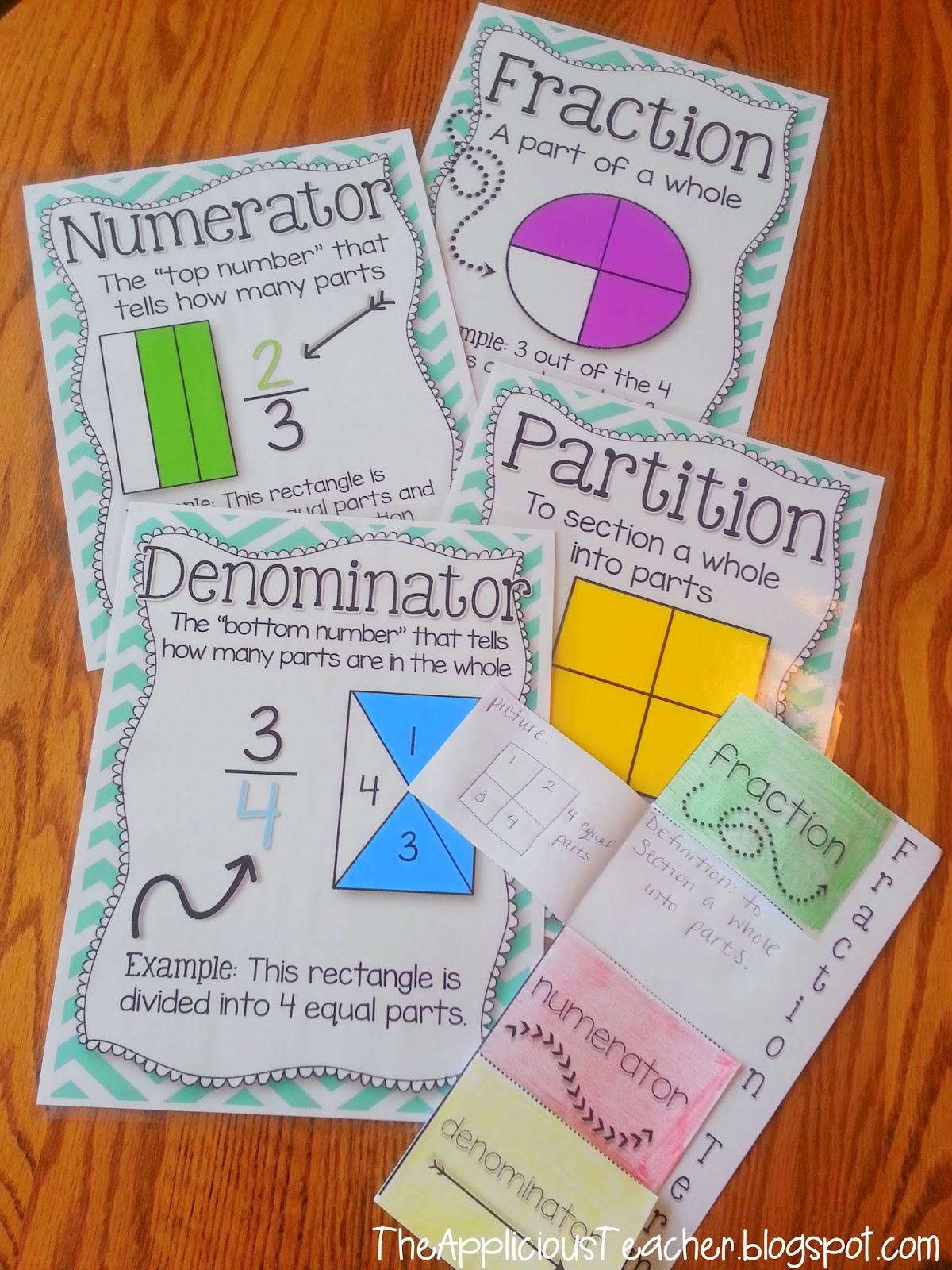 fraction vocabulary