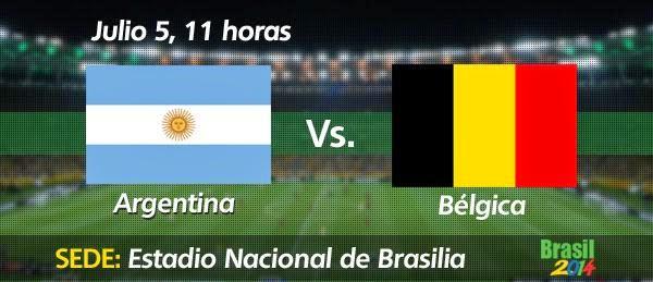 Partido Argentina vs Bélgica Cuartos de Final