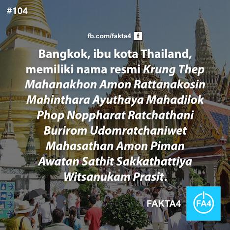 Nama Resmi Kota Bangkok